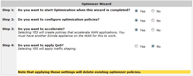 Optimizer Wizard